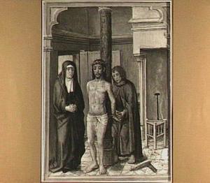 Christus wordt losgemaakt van de geselzuil door Johannes de Evangelist (detail van het middenpaneel)