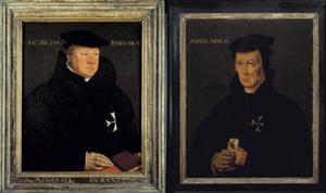 Portret van Wolter van Byler; Portret van een man, waarschijnlijk Berend van Duven