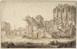 Klassieke ruïne met latere aanbouwsels