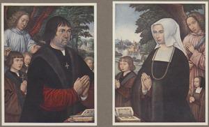 Portret van Lievin van Pottelsberghe en zijn zonen (links); Portret van Livina van Steelant en een zoon en dochter (rechts)