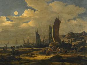 Vismarkt op het strand