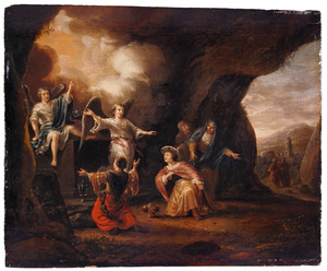 De drie Maria's bij het lege graf