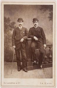 Portret van twee mannen
