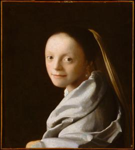 Tronie van een jonge vrouw