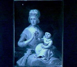 Portret van Emerentia van Renten (1741-?), echtgenote van Cornelis de Witt