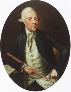 Portret van een onbekende man met een fluit
