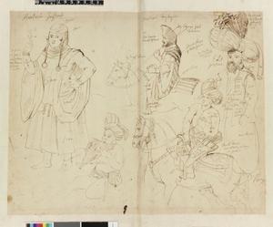 Studie van vijf figuren in Oosterse kledij