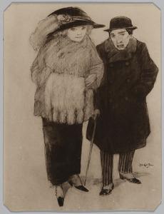 Man en vrouw op straat