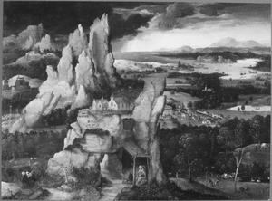 Rotslandschap met de boetvaardige H. Hieronymus