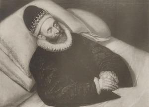 Doodsbedportret van Floris I van Pallandt (1537-1598), 1ste graaf van Culemborg
