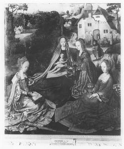 Maria met kind en drie vrouwelijke heiligen
