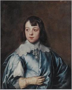 Portret van Charles Stanley, Lord Strange, 8th Earl of Derby (1628-1672) op tienjarige leeftijd