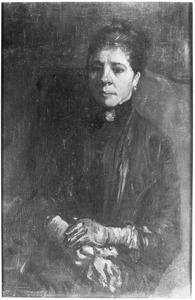 Portret van een zittende vrouw