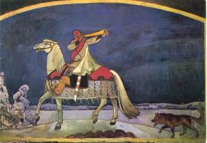 Kullervo trekt ten strijde, episode uit de Kalevala