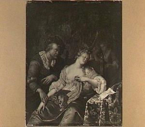 Dokter voelt de pols van een flauw gevallen vrouw