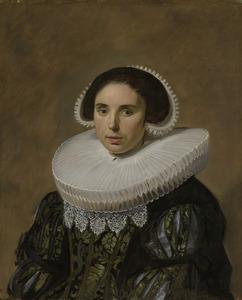 Portret van een vrouw genaamd Sara Wolphaerts van Diemen (1594-1667