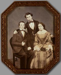 Portret van drie kinderen van Petrus Franciscus van den Berg (1798-1867) en Emilia Maria  Theresia van Kerckhoff (1804-1874)