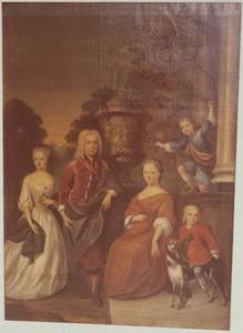 Portret van de familie van Warner Vijfhuis (1673-1759) en Wilhelmina Beumers (1686-1766)
