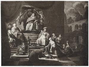 De koningin van Seba voor Salomo  (1 Koningen 10:1-2;2 Kronieken 9:1-2)