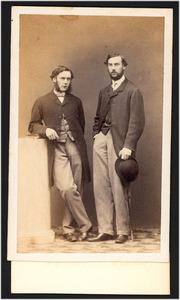 Portret van Jhr. William Walter Astor Boreel (1838-1892) en Alfred Northey (?-?)