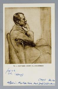 Portret van de kunstenaar Theo van Hoytema