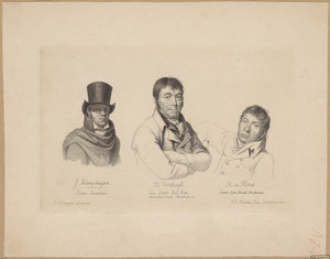 Portretten van Jan Kamphuysen (1760-1841), Dirk Versteegh (1751-1822) en Hendrik de Flines (1760-1832)