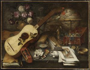 Stilleven met gitaar