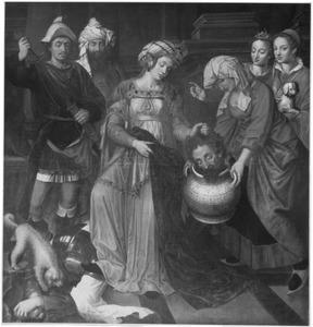 Tomyris laat het hoofd van Cyrus in een vat met bloed stoppen