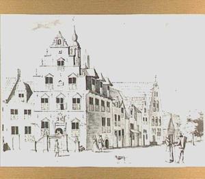 Het stadhuis te Buren