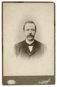 Portret van Jacobus Lodewijk Conradus Schroeder van der Kolk (1865-1905)