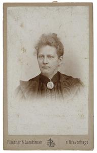 Portret van Louise Egbertina Adrienne Bouricius (1847-1931)
