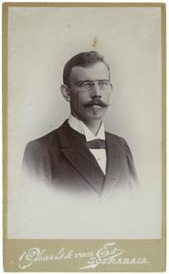 Portret van Johan Willem Jules Wellan (1870-1940)