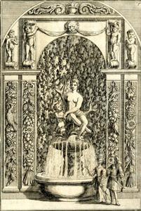 Fontein in de tuinen van het Aartsbisschoppelijk Paleis te Kroměříž