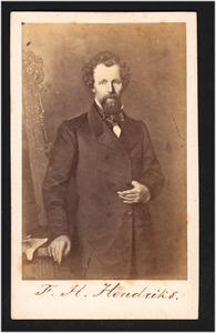 Portret van de schilder Frederik Hendrik Hendriks (1808-1865)
