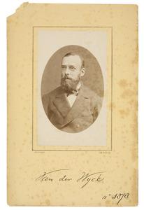Portret van Bernard Hendrik Cornelis Karel van der Wyck (1836-1925)