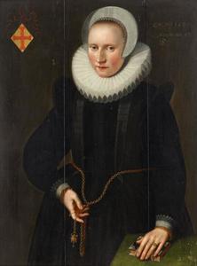 Portret van een vrouw, waarschijnlijk Margaretha Rerinck (1573- )