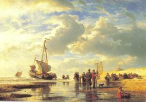 Strand bij Scheveningen