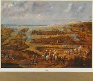 Het beleg van Valetta op Malta door de Turken in mei 1565
