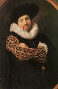 Portret van een man, mogelijk Isaac Massa (1586-1643)