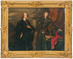 Portret van Thomas Wentworth, 4th Baron Wentworth of Nettlestead and 1st Earl of Cleveland (1591-1667) met zijn zoon Thomas Wentworth, later 5th Lord Wentworth (1612-1665)