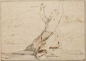 Schets van een weeklagende Niobe (Ovidius VI:204-312)