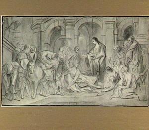 Christus geneest de verlamden bij het bad van Bethesda