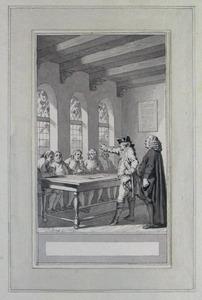 Illustratie bij 'De boeren en de amptman' uit de Fabelen en vertelsels van F.C. Gellert