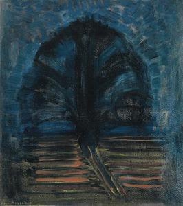 Blue willow tree II