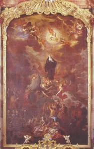 De verheerlijking van de heilige Walburga