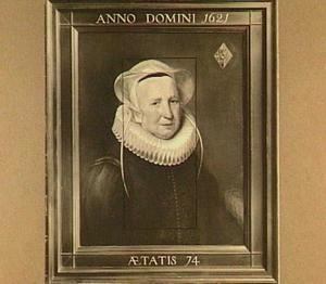 Portret van Elisabeth van Adrichem, stichteres van het Klauwhofje te Delft, weduwe van Dirck Jansz. Uyttenhagen van Ruyven