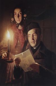 Portret van P.J. Tieleman van Streefkerk (1790-1858) met dochter