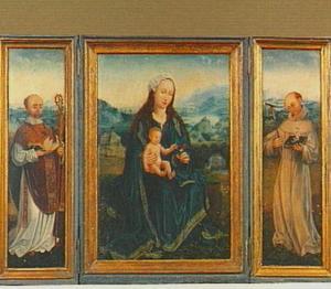 De H. Bruno van Keulen (links), Maria met kind (midden), de H. Antonius van Padua (rechts)