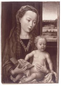 Maria en kind met boek