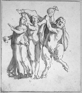 Dansende sater en bacchanten